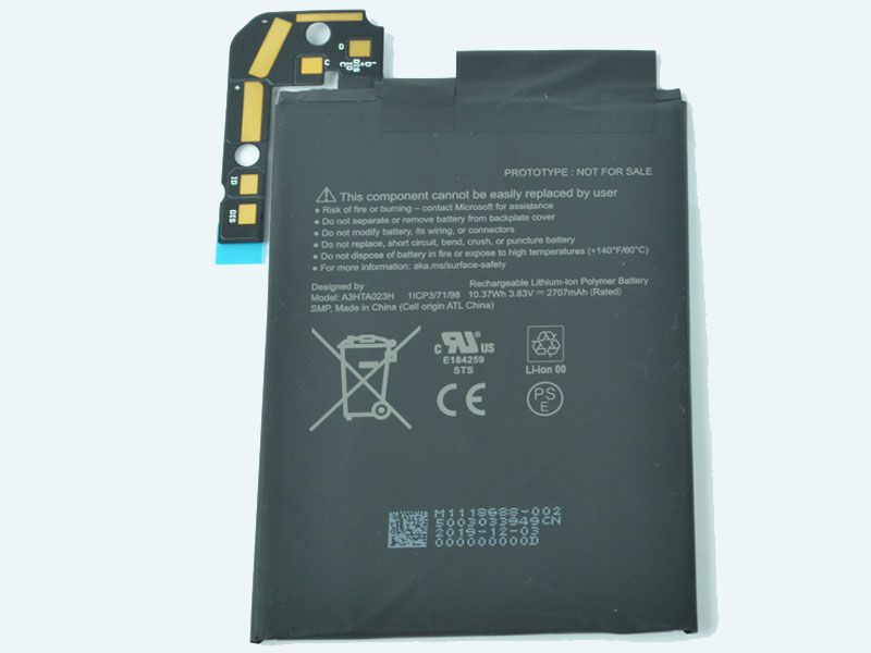 Microsoft A3HTA023H 1ICP3/71/9...対応バッテリー